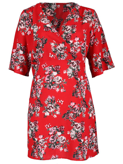 Plus Womens Kimono Sleeve Dress