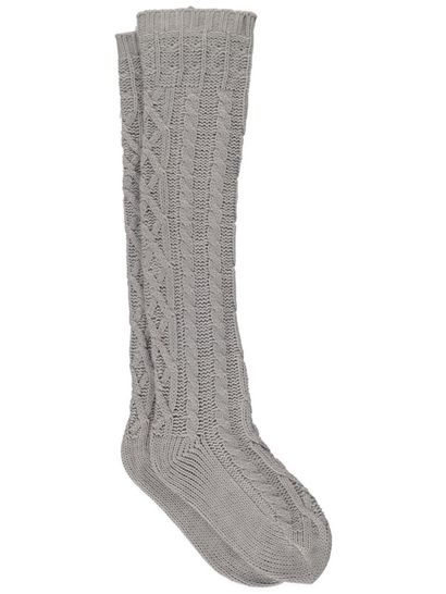 Bed Socks Cable Knee High Womens