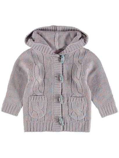 Toddler Girls Cable Knit Cardigan