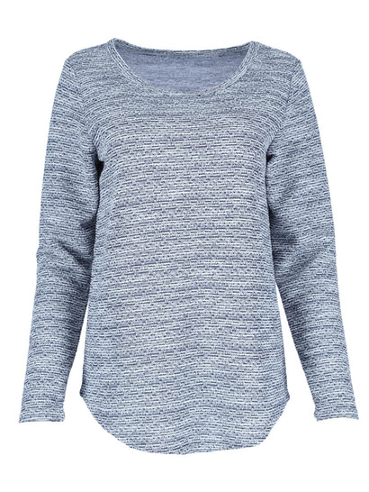 Plus Roll Sleeve Pullover Womens