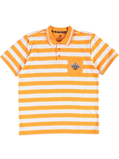 Mens Nrl Stripe Polo