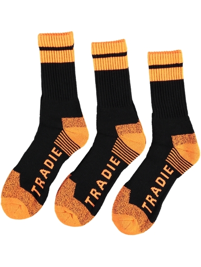 Mens Tradie 3Pk Acrylic Work Sock