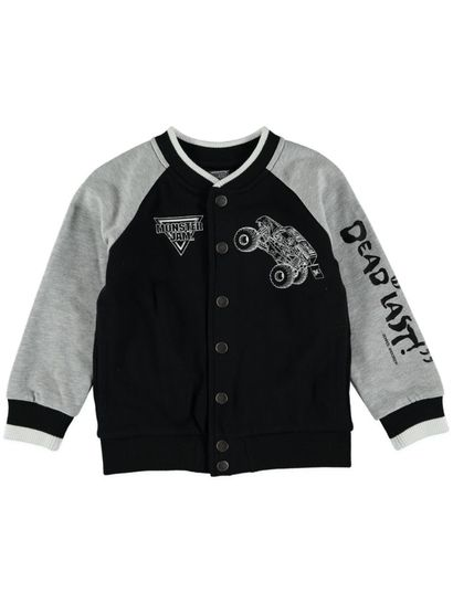 Boys Monster Jam Varsity Jacket