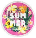 Printed Beach Round Towel