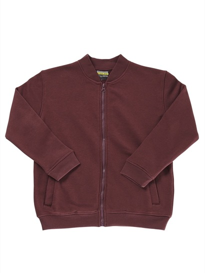 MAROON KIDS FULL ZIP FLEECE JACKET
