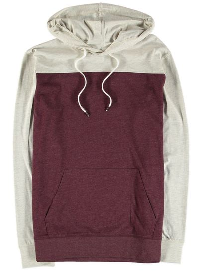 Mens Long Sleeve Hood Tee