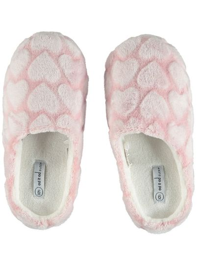 Women Fur Heart Scuff