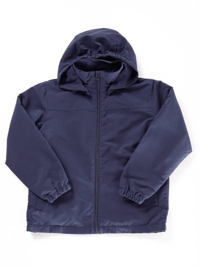 NAVY BLUE KIDS JACKET WITH DETACHABLE HOOD
