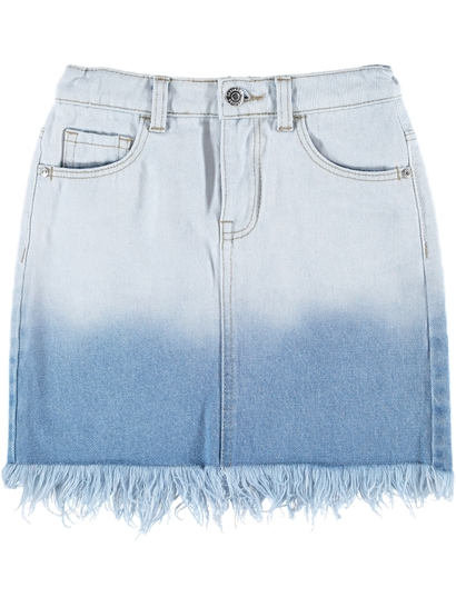 Girls Ombre Denim Skirt