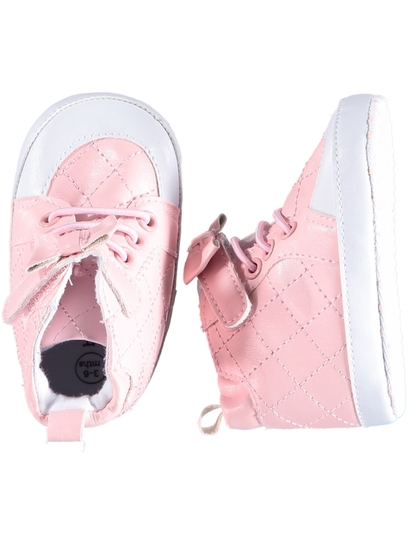 Baby Girls Quilted High Top Shoe