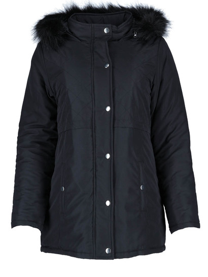 Plus Quilted Puffa Coat Womens