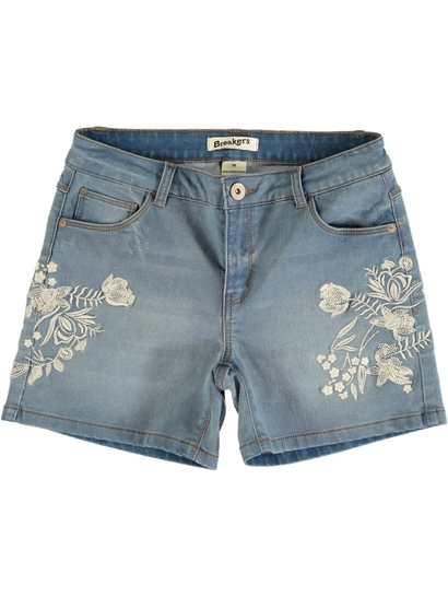 Womens Embroidery Front Short