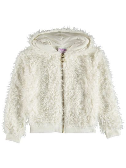 Girls Sherpa Jacket With Hood