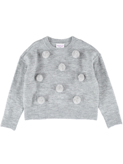 Girls Pom Pom Knitted Pullover
