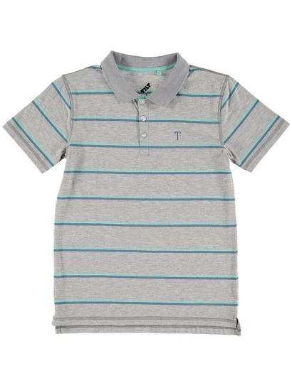Boys Stripe Ss Polo