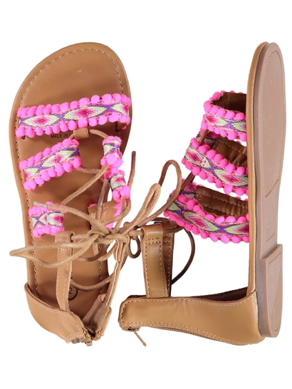 Toddler Girl Pom Pom Sandal