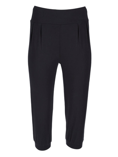 Womens Plus Jersey Casual Crop Pant