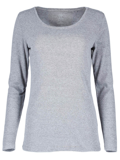 Plus Organic Cotton Blend Long Sleeve Top Womens