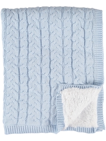 Baby Cable Knit Blanket