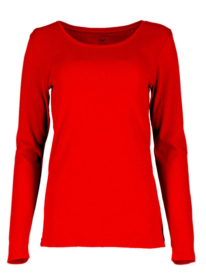 Womens Plus Cotton Long Sleeve Top