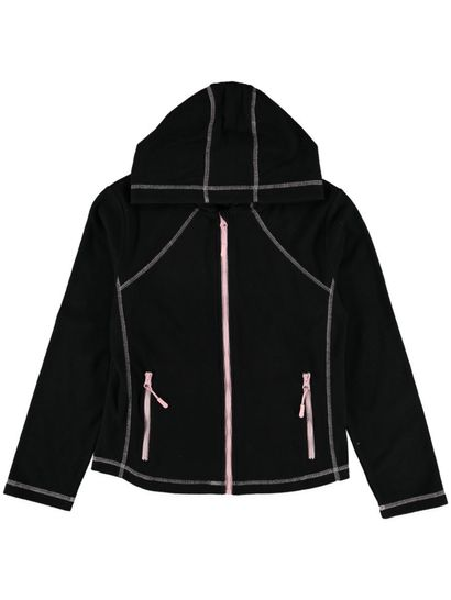 Girls Fleece Zip Thru Hoodie