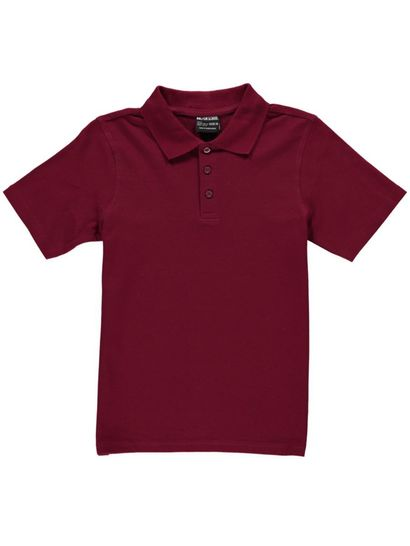 MAROON KIDS TEFLON PROTECTED COTTON POLO