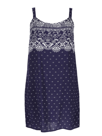 Womens Plus Print Dress