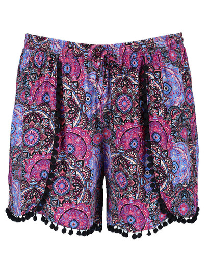 Plus Womens Pom Pom Short