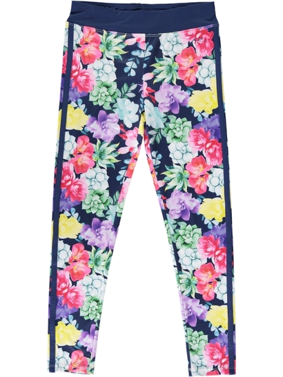 Girls Active Floral Leggings