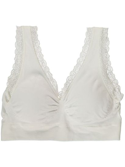SEAMFREE CROP WITH LACE TRIM