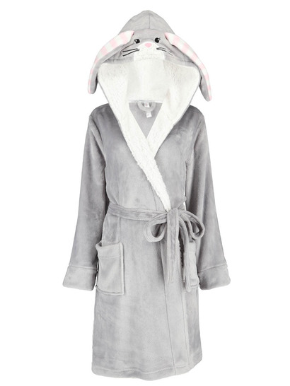 Plus Womens Hooded Rabbit Gown