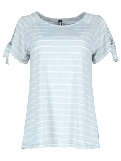 Cold Shoulder Tie Tee Womens