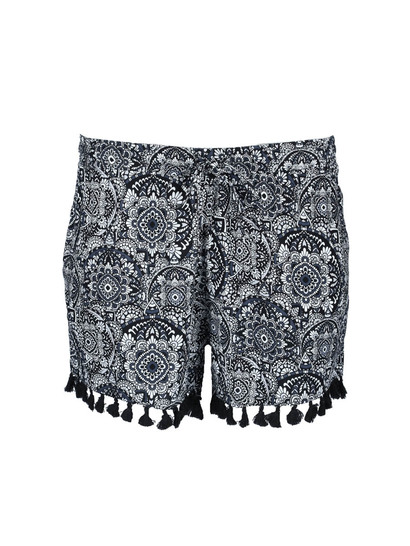 Womens Plus Tassle Short