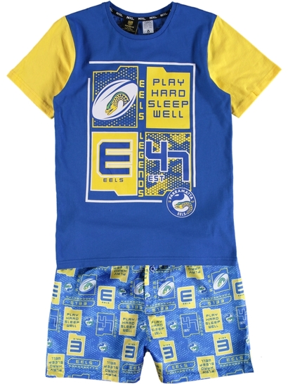 Youth Nrl Knit Satin Pj