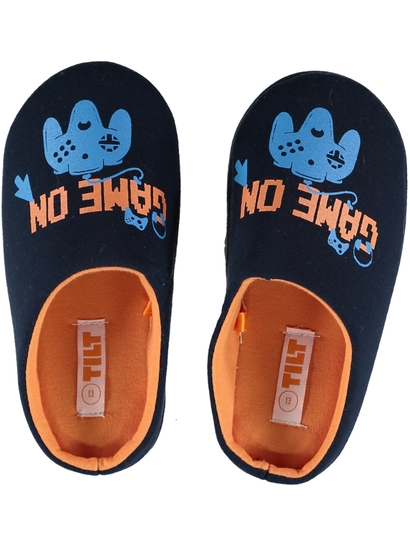 Boys Printed Novelty Scuff Slippers