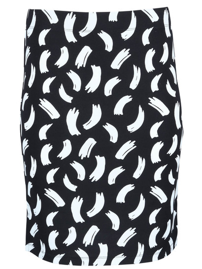 Plus Women Tube Print Skirt