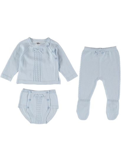 BABY COTTON KNITTED 3PC SET