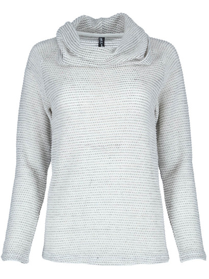 Slub Roll Neck Pullover Womens