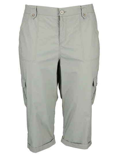 Womens Plus Cargo Crop Pant
