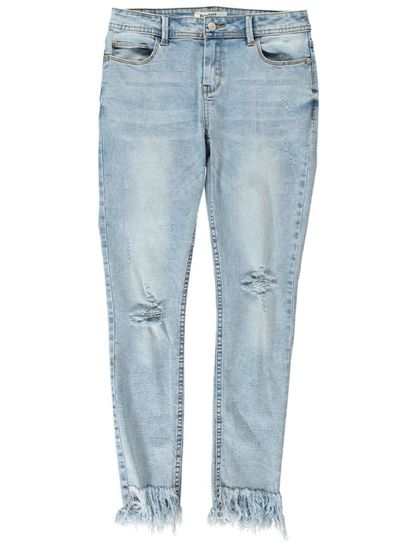 Womens Youth Miss Mango Tassel Denim Jean