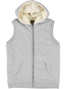 Boys Sherpa Lined Hooded Vest