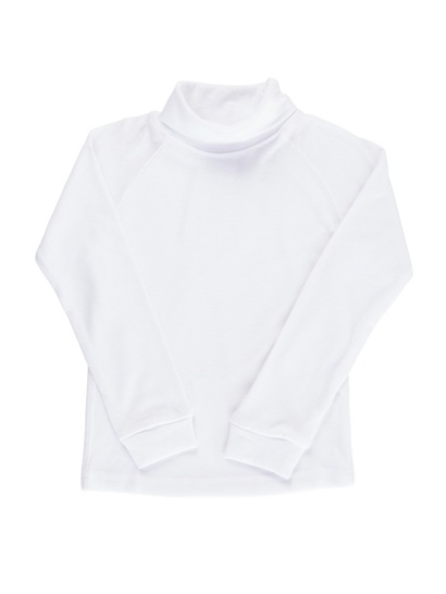 WHITE KIDS INTERLOCK SKIVVY