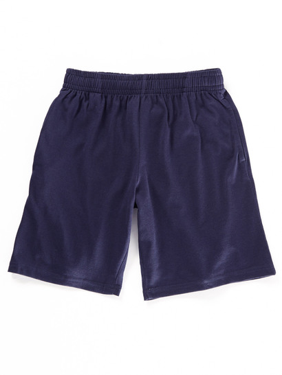 NAVY BLUE KIDS KNIT SHORTS