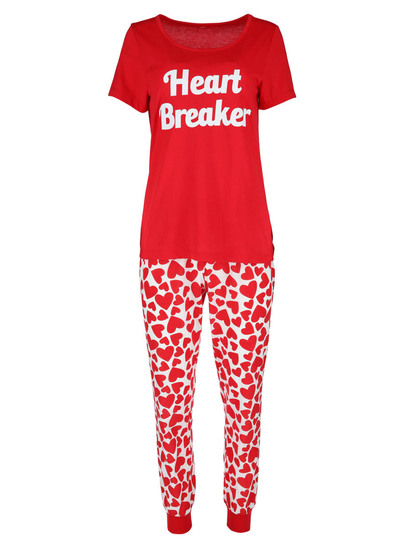 Short Sleeve Jogger Pj Set Womens