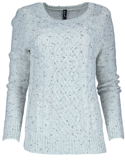 Plus Cable Nep Yarn Pullover Womens