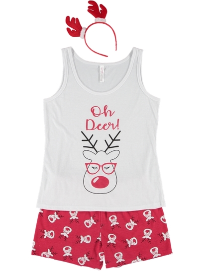 Womens Plus Tank Pj Set With Bonus Gift