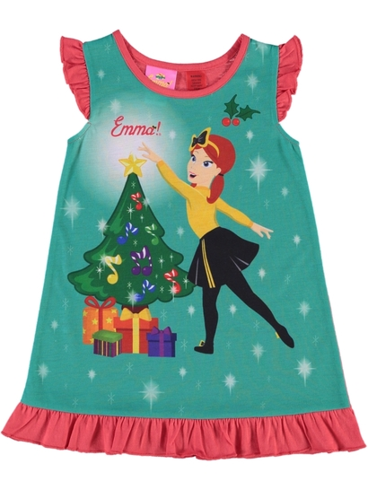 Girls Wiggles Xmas Nightie