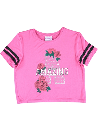 Girls Foil Print T Shirt