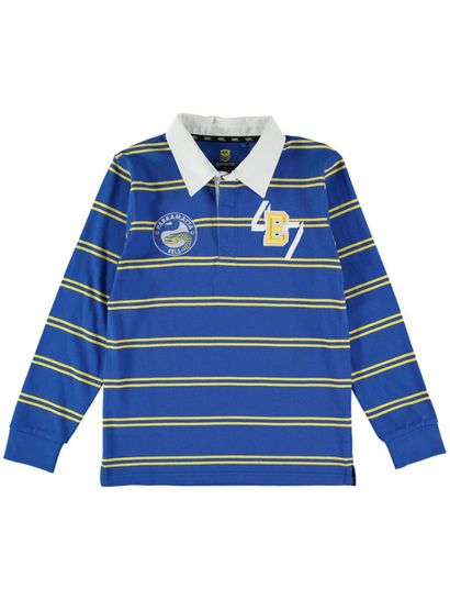 Nrl Youth Ls Yarn Dyed Rugby Top