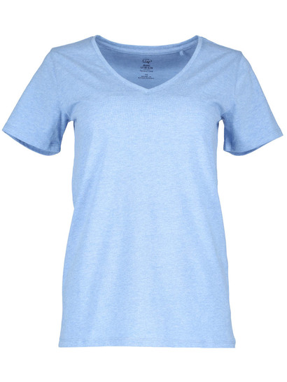Organic Cotton Blend V-Neck Tee Womens